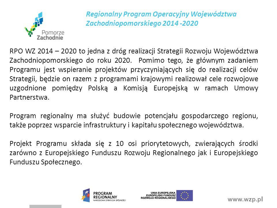 Regionalny Program Operacyjny Województwa Zachodniopomorskiego 2014 -2020
