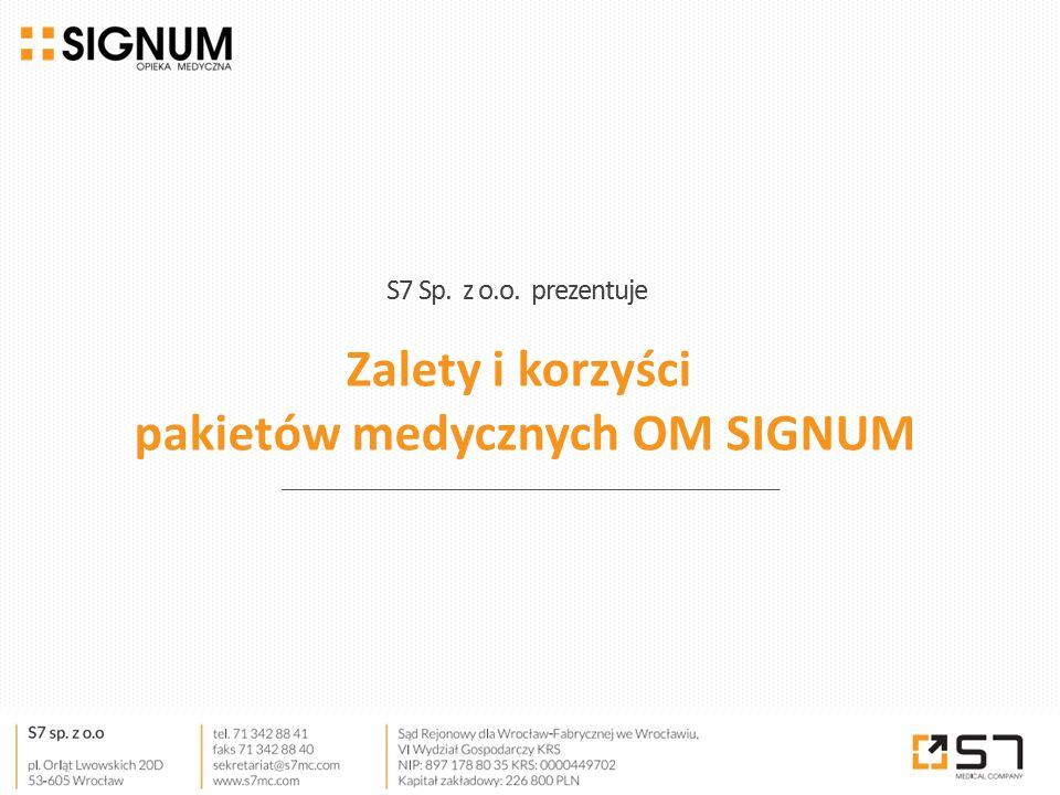 Zalety i korzyści pakietów medycznych OM SIGNUM