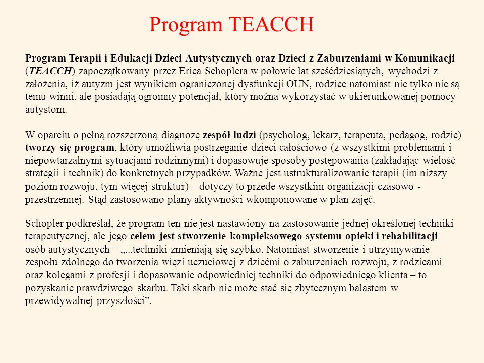 Program TEACCH