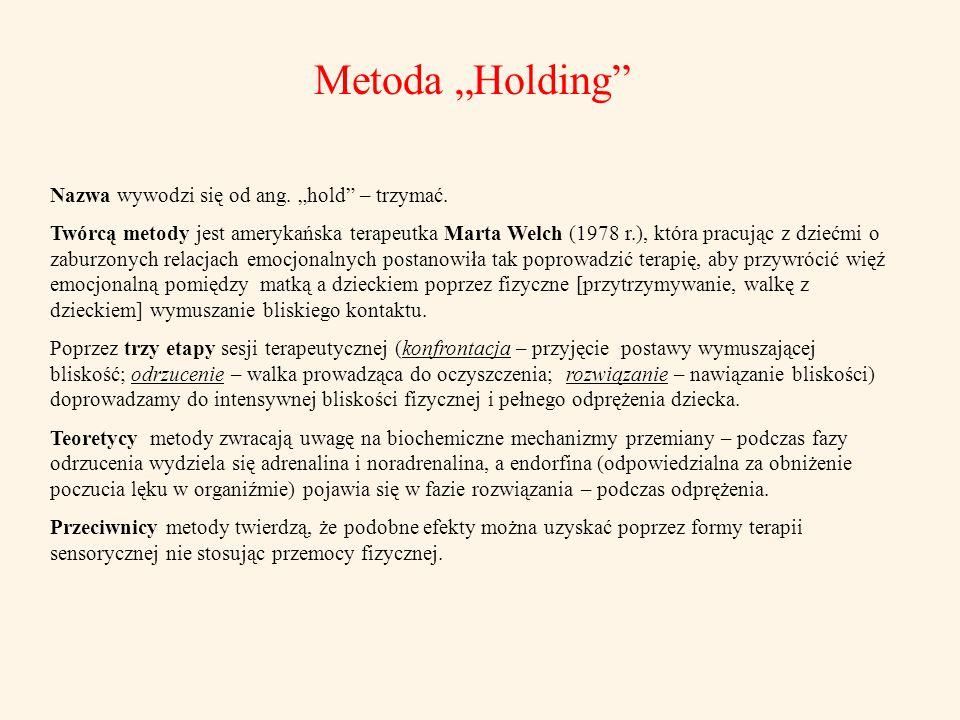 """Metoda """"Holding Nazwa wywodzi się od ang. """"hold – trzymać."""