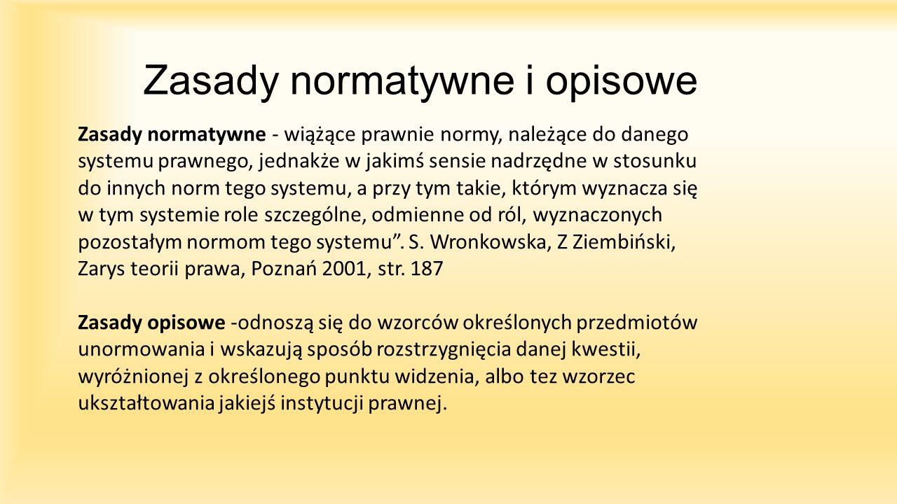 Zasady normatywne i opisowe