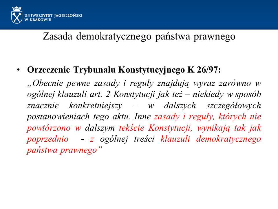 Zasada demokratycznego państwa prawnego