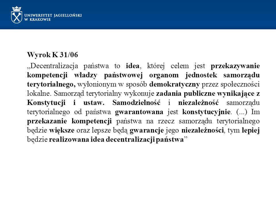 Wyrok K 31/06