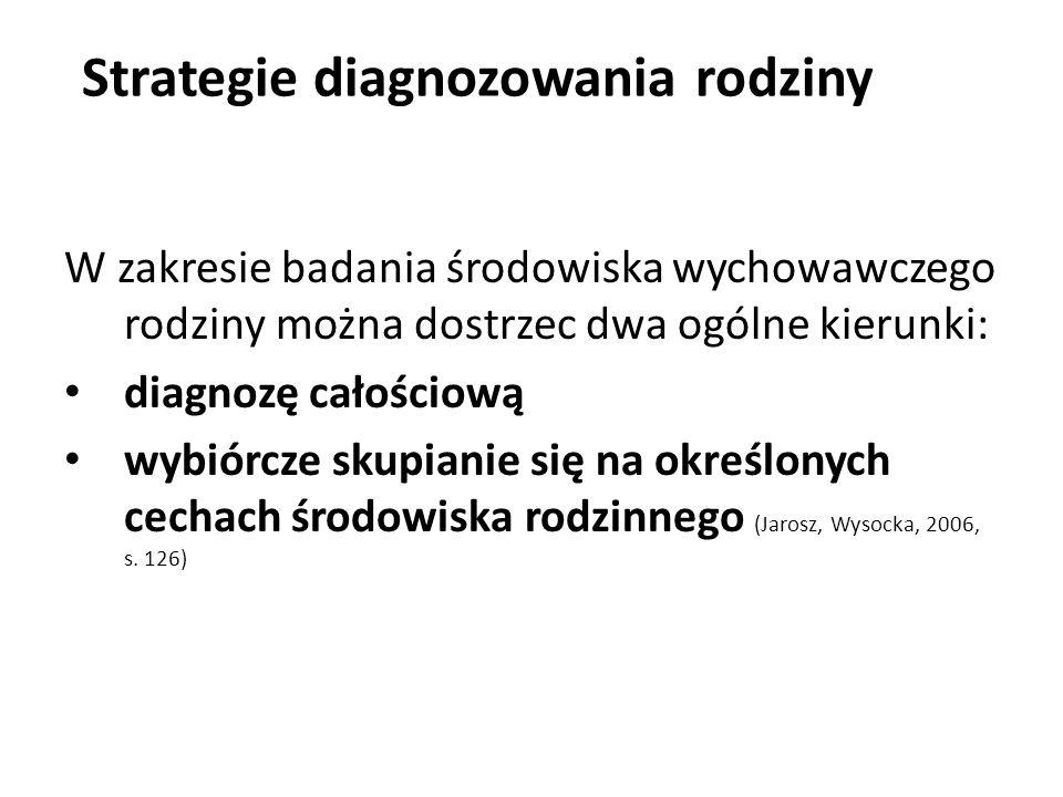 Strategie diagnozowania rodziny