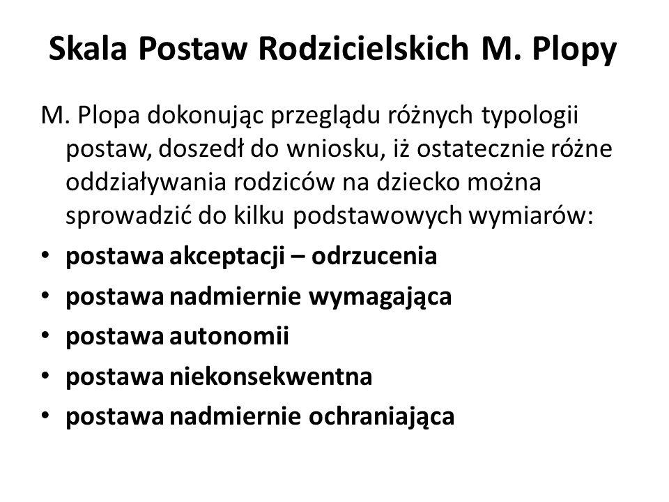 Skala Postaw Rodzicielskich M. Plopy