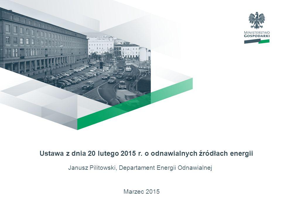 Ustawa z dnia 20 lutego 2015 r. o odnawialnych źródłach energii