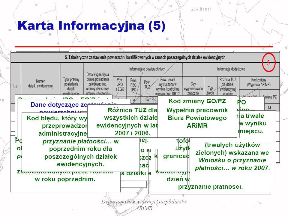 Karta Informacyjna (5) Powierzchnia JPO z EGiB jest zgodna z aktualnym stanem ujawnionym w operacie ewidencji gruntów i budynków.