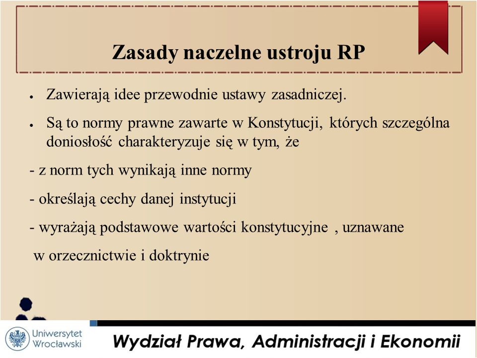 Zasady naczelne ustroju RP