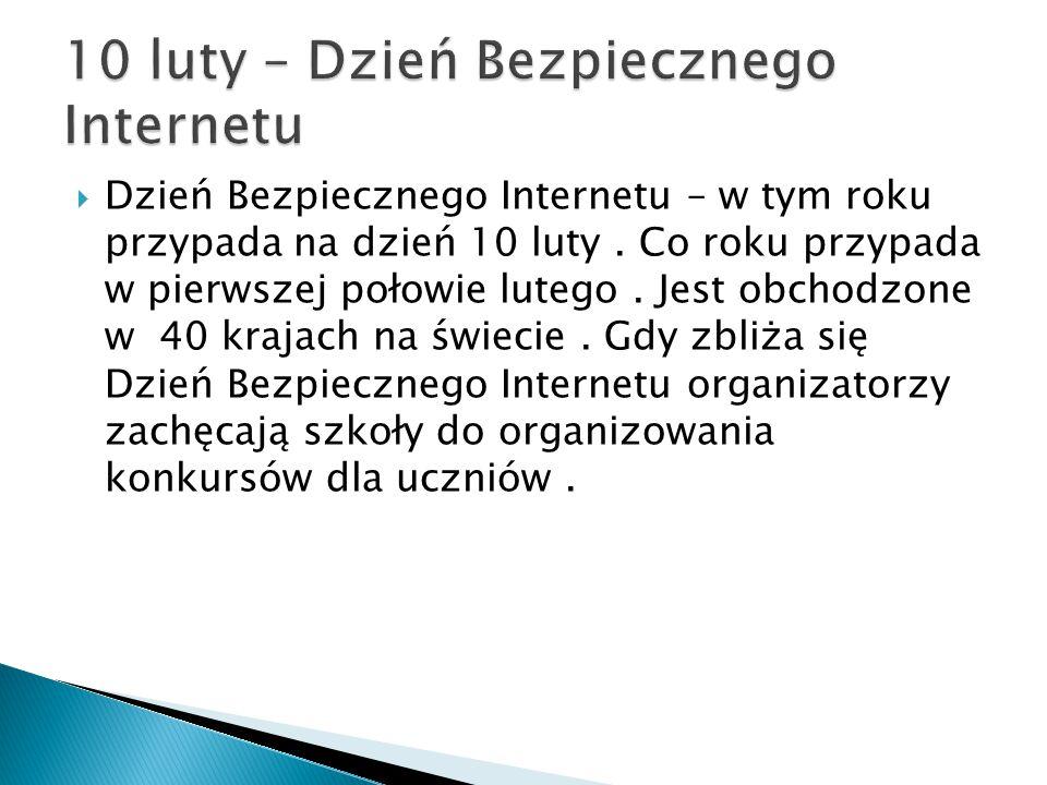 10 luty – Dzień Bezpiecznego Internetu