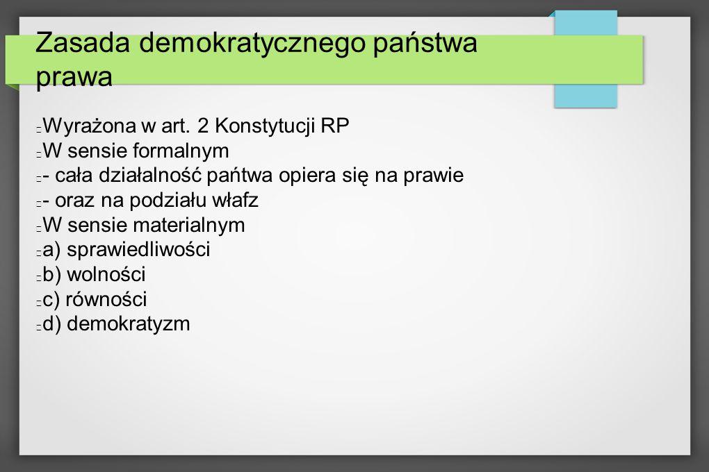 Zasada demokratycznego państwa prawa