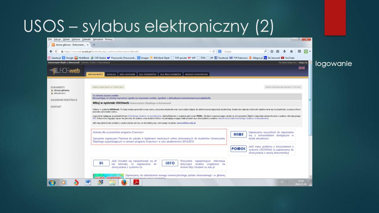 USOS – sylabus elektroniczny (2)