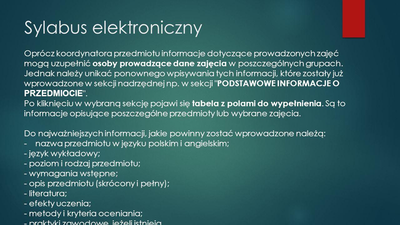 Sylabus elektroniczny