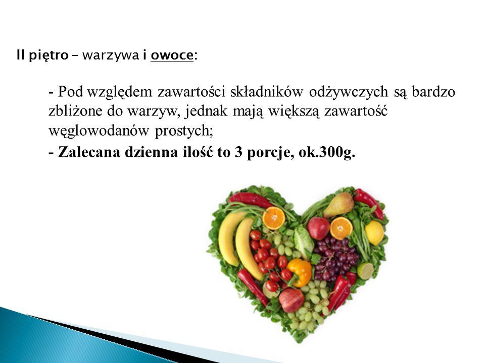 II piętro – warzywa i owoce:
