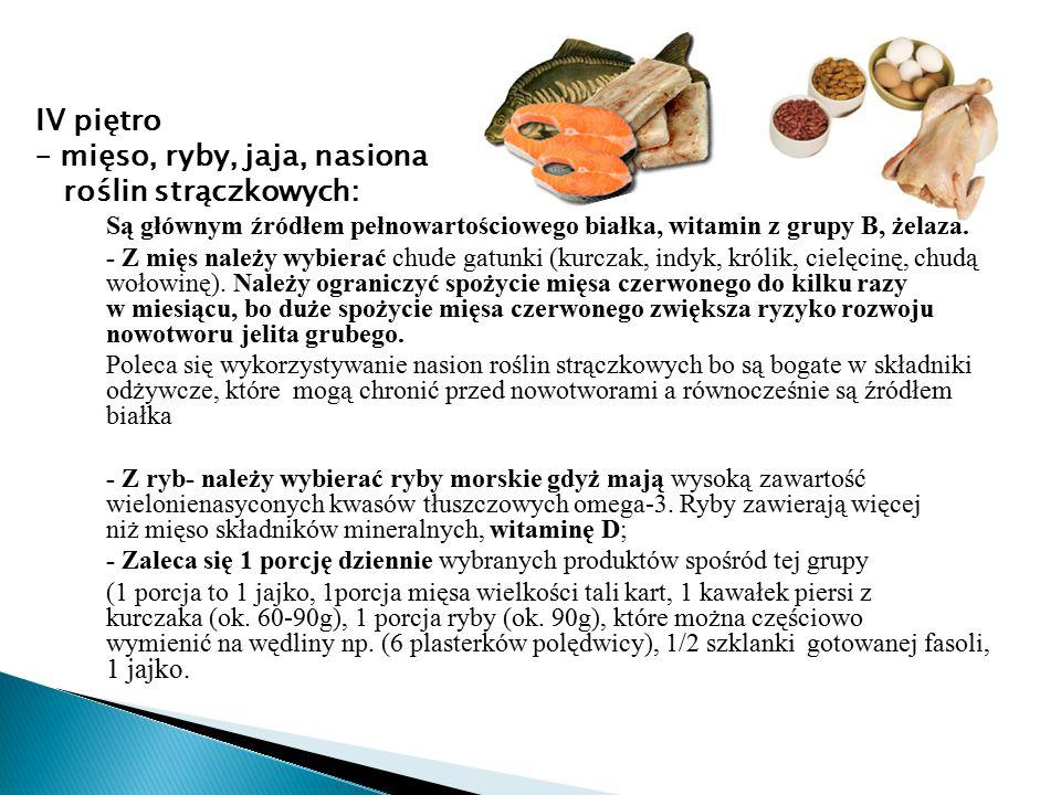 – mięso, ryby, jaja, nasiona roślin strączkowych: