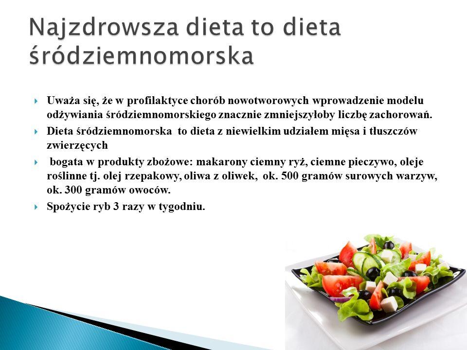 Najzdrowsza dieta to dieta śródziemnomorska
