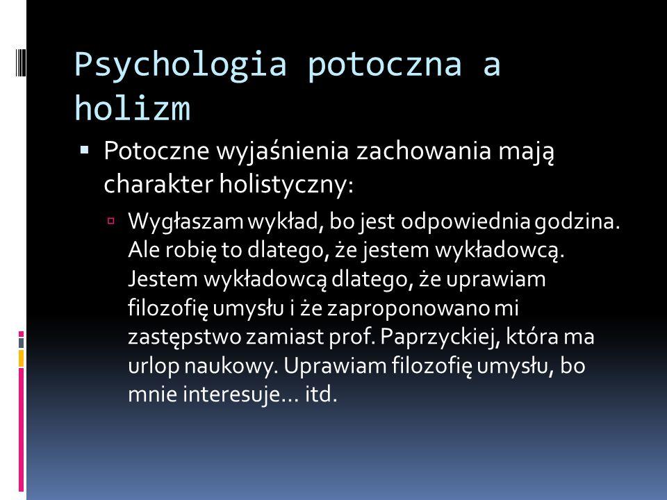 Psychologia potoczna a holizm