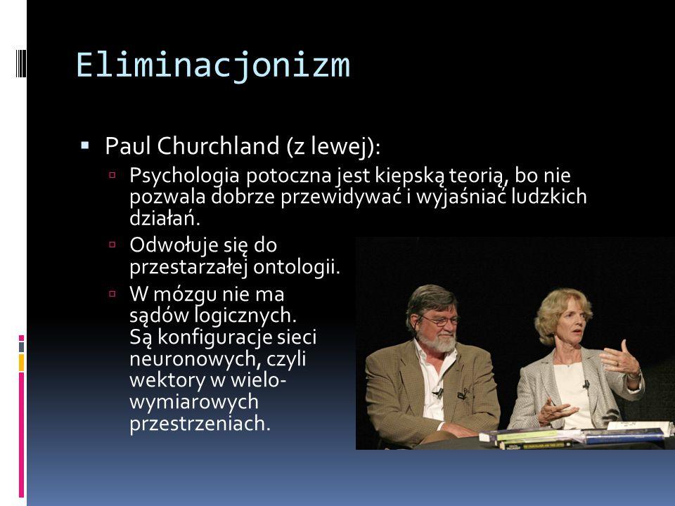 Eliminacjonizm Paul Churchland (z lewej):