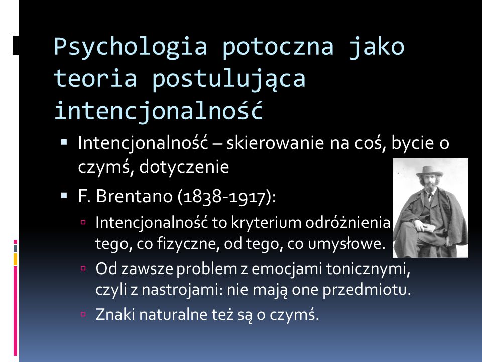 Psychologia potoczna jako teoria postulująca intencjonalność