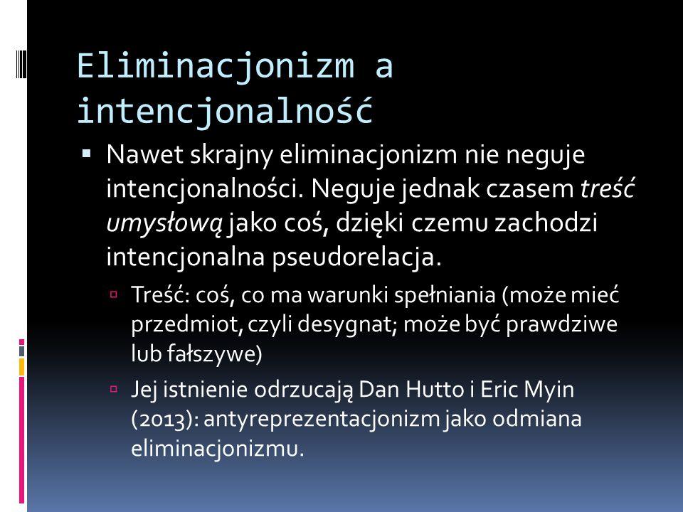 Eliminacjonizm a intencjonalność