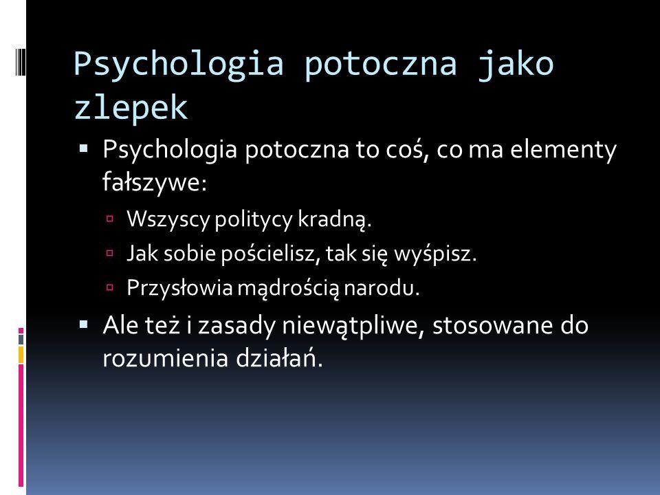 Psychologia potoczna jako zlepek
