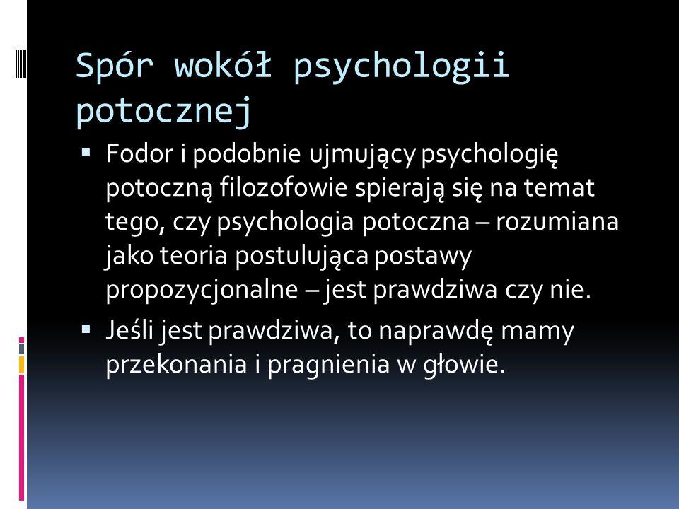 Spór wokół psychologii potocznej