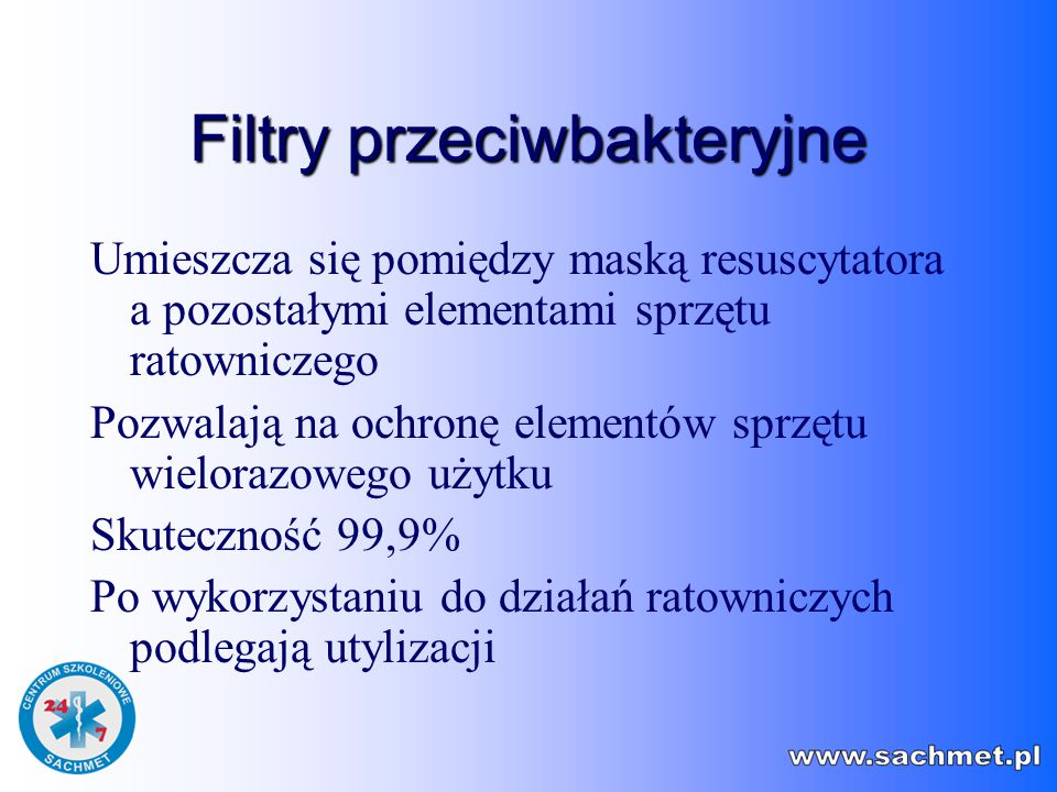 Filtry przeciwbakteryjne
