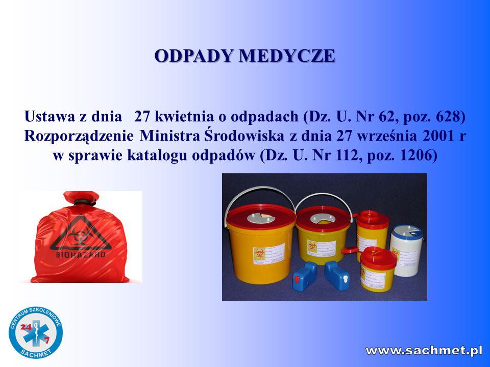 Ustawa z dnia 27 kwietnia o odpadach (Dz. U. Nr 62, poz. 628)