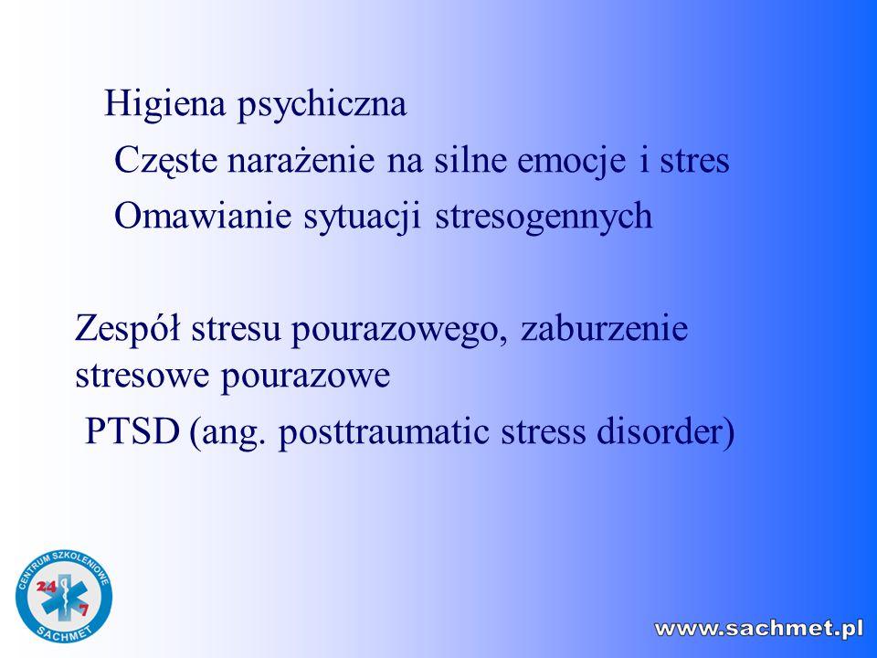 Częste narażenie na silne emocje i stres