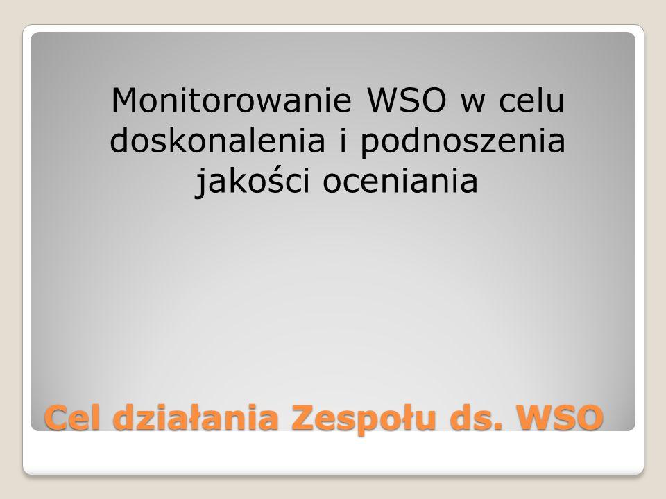 Cel działania Zespołu ds. WSO