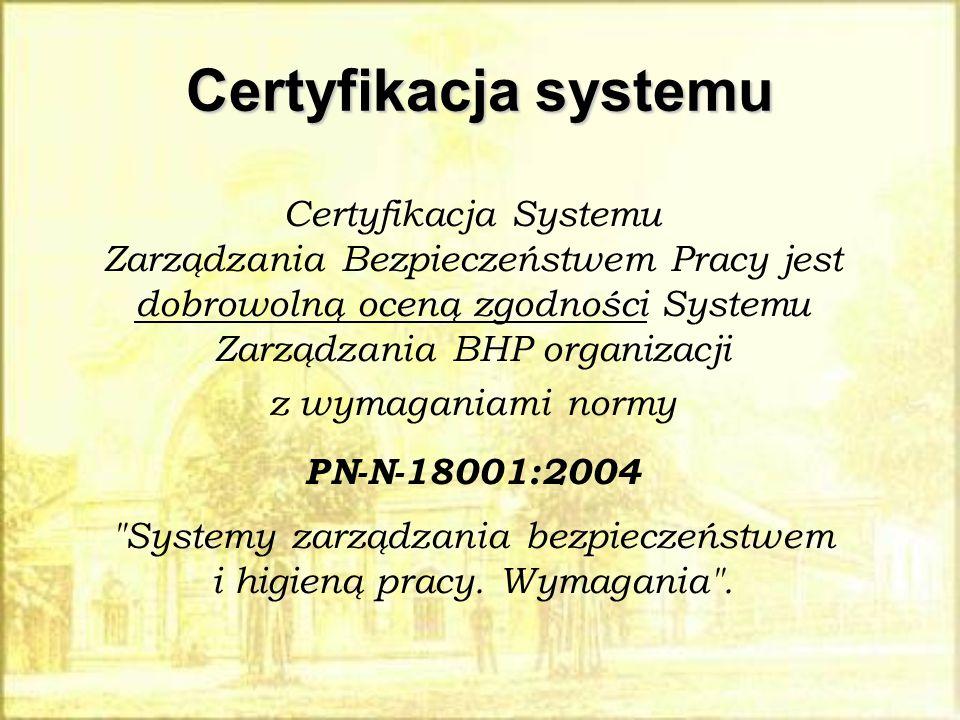 Systemy zarządzania bezpieczeństwem i higieną pracy. Wymagania .