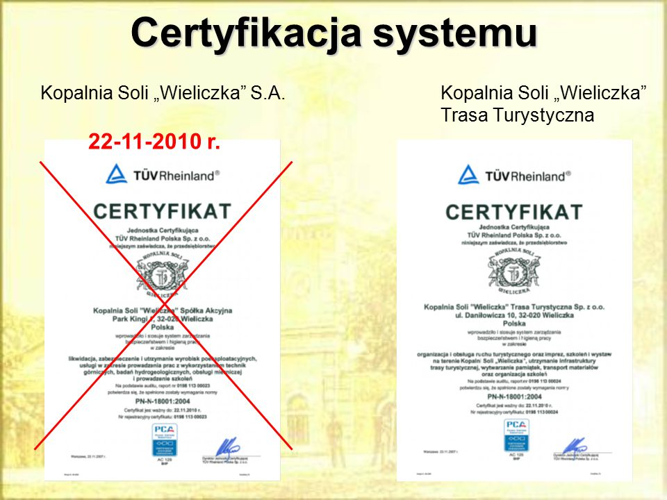 Certyfikacja systemu 22-11-2010 r.