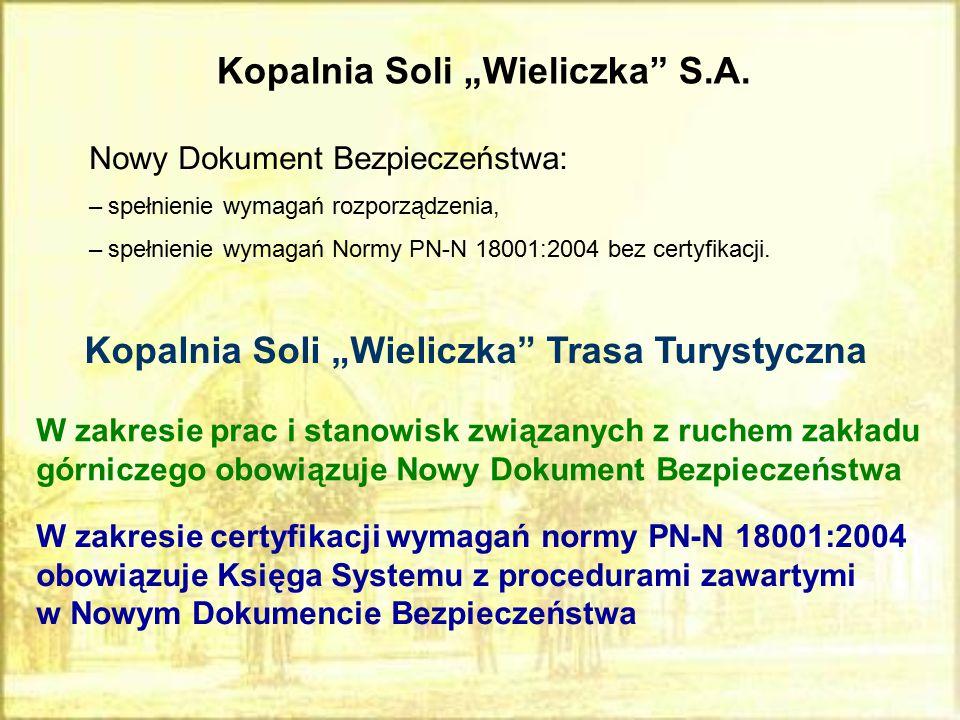 """Kopalnia Soli """"Wieliczka S.A."""