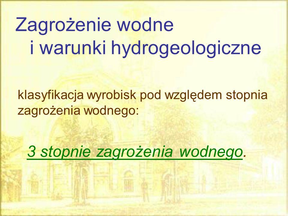 Zagrożenie wodne i warunki hydrogeologiczne
