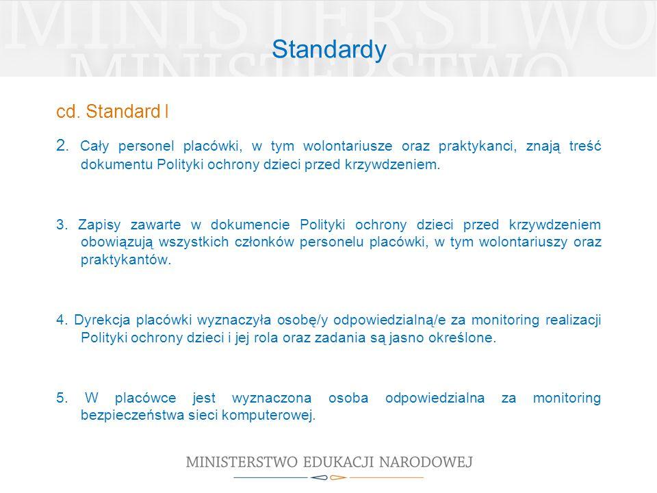Standardy cd. Standard I