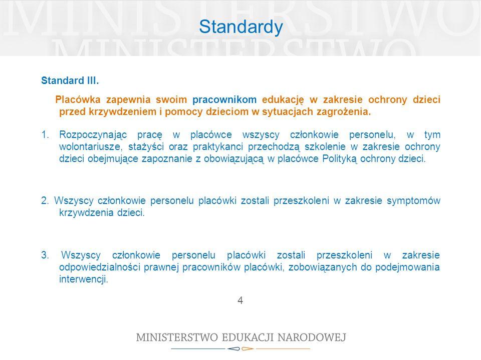 Standardy 4 Standard III.