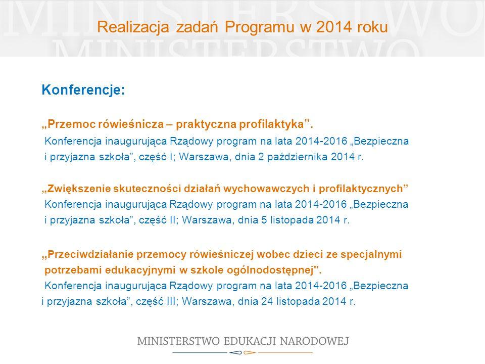 Realizacja zadań Programu w 2014 roku