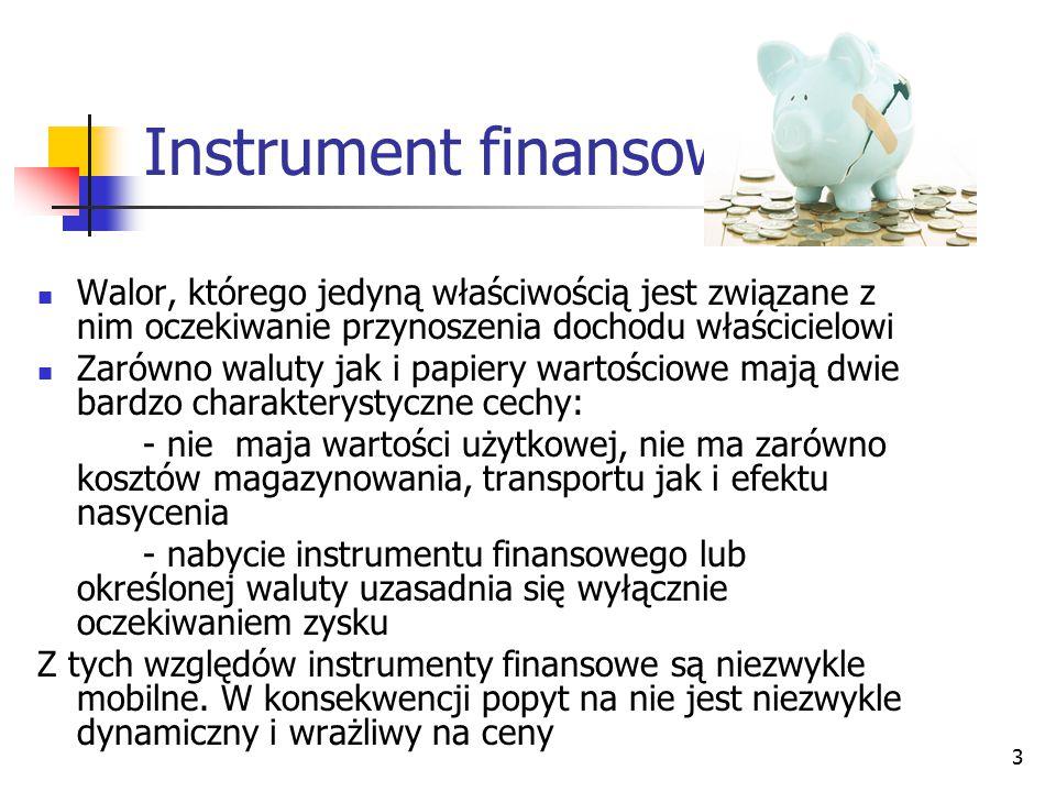 Instrument finansowy Walor, którego jedyną właściwością jest związane z nim oczekiwanie przynoszenia dochodu właścicielowi.