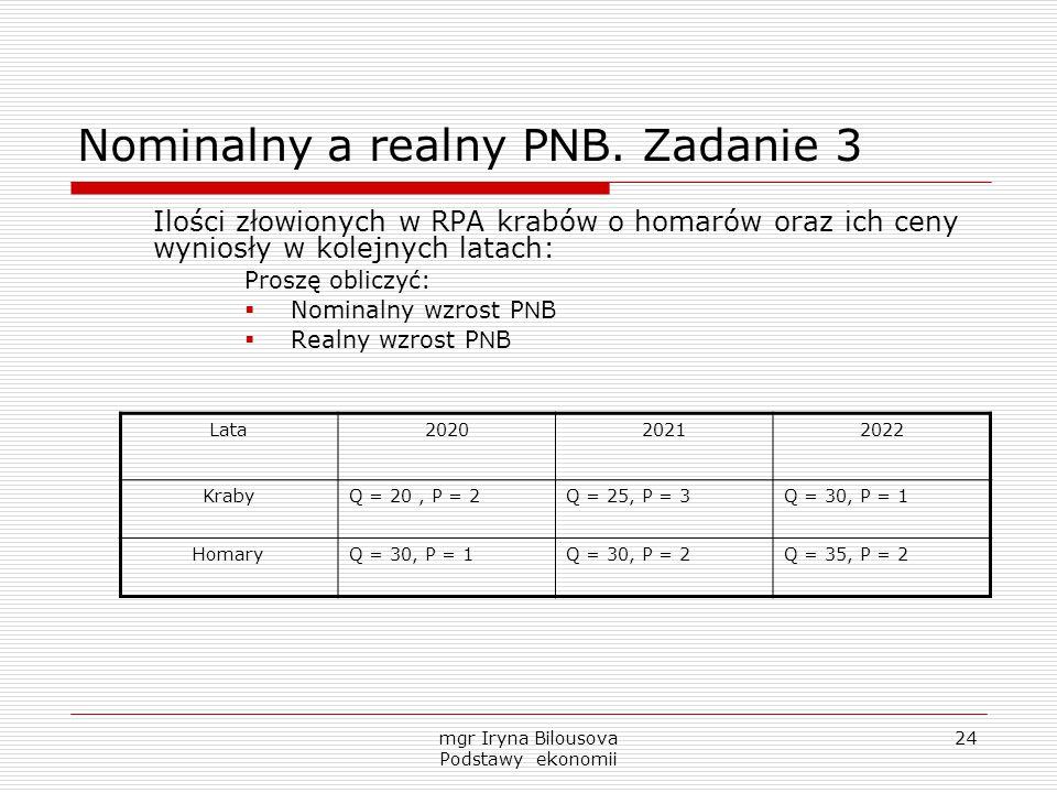 Nominalny a realny PNB. Zadanie 3