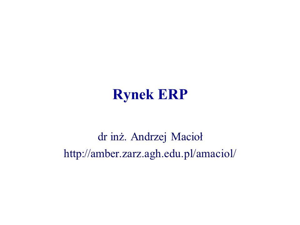 dr inż. Andrzej Macioł http://amber.zarz.agh.edu.pl/amaciol/