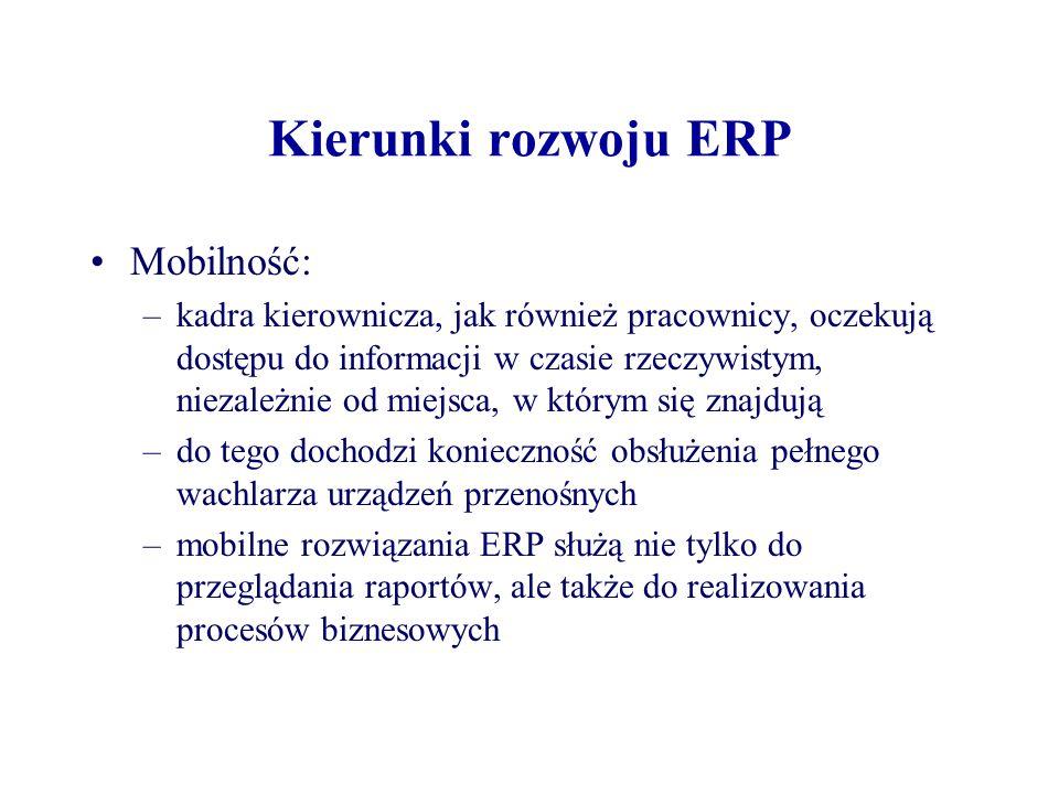 Kierunki rozwoju ERP Mobilność:
