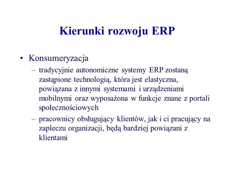 Kierunki rozwoju ERP Konsumeryzacja