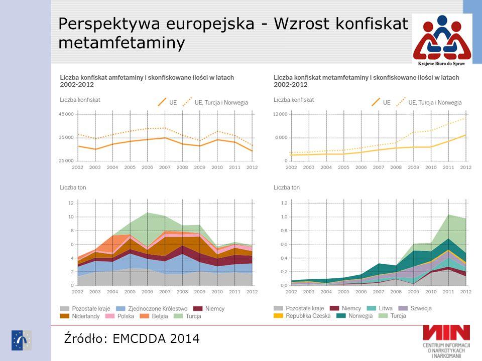 Perspektywa europejska - Wzrost konfiskat metamfetaminy