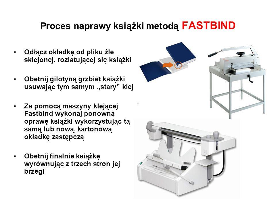 Proces naprawy książki metodą FASTBIND
