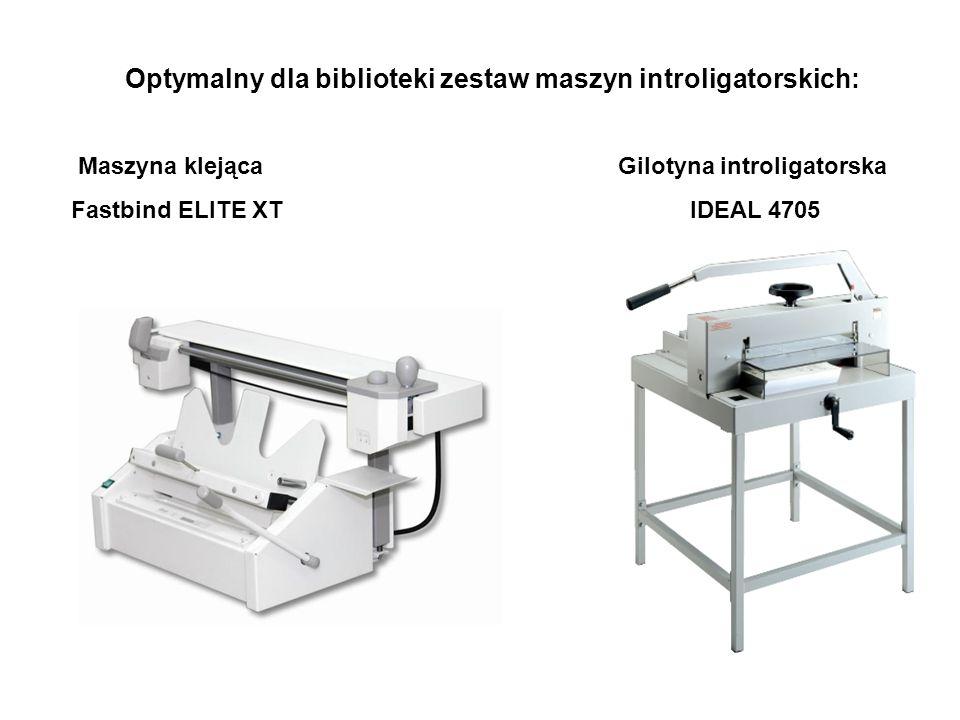 Optymalny dla biblioteki zestaw maszyn introligatorskich: