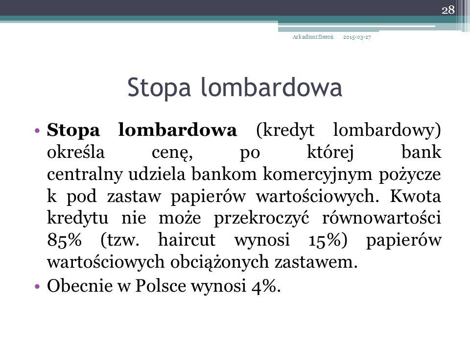 Arkadiusz Sieroń 2017-04-08. Stopa lombardowa.