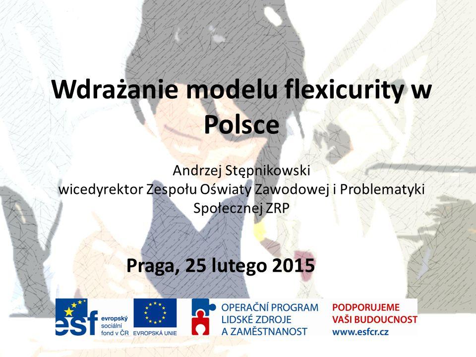Wdrażanie modelu flexicurity w Polsce Andrzej Stępnikowski wicedyrektor Zespołu Oświaty Zawodowej i Problematyki Społecznej ZRP