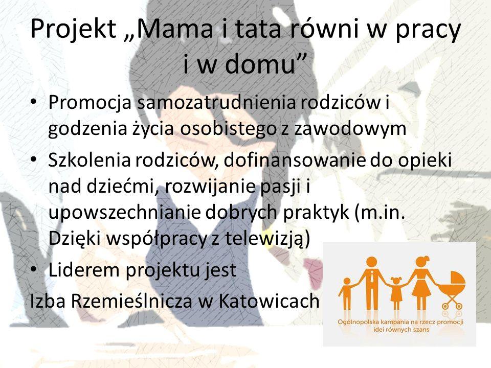 """Projekt """"Mama i tata równi w pracy i w domu"""
