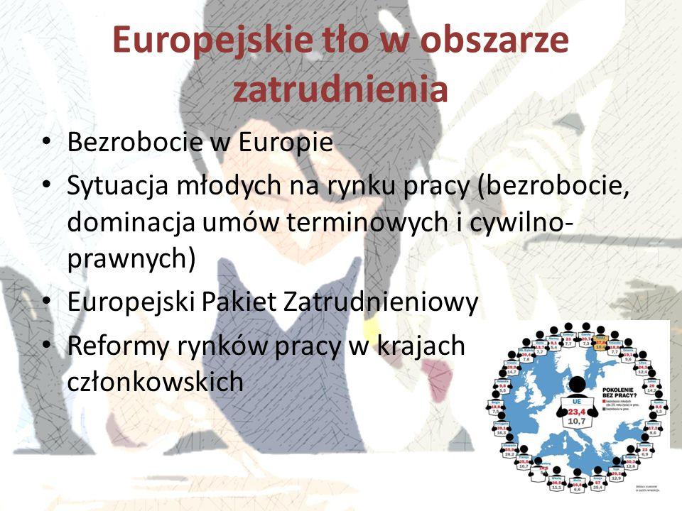 Europejskie tło w obszarze zatrudnienia