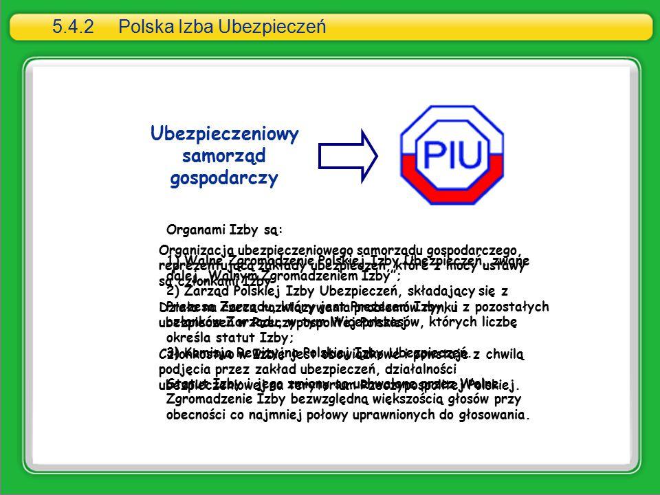 5.4.2 Polska Izba Ubezpieczeń