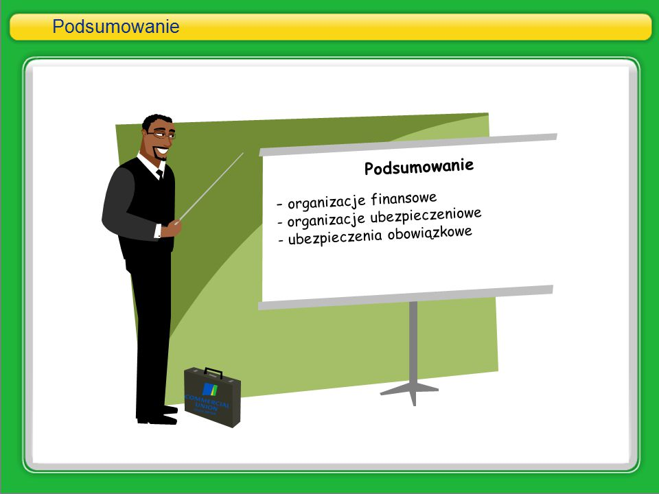 Podsumowanie Podsumowanie - organizacje finansowe